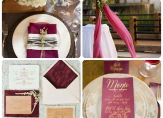 bodas tematicas color marsala