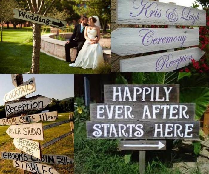 decoracion de bodas con señalizacion