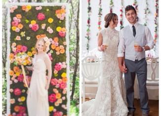 arreglos florales para bodas en paredes